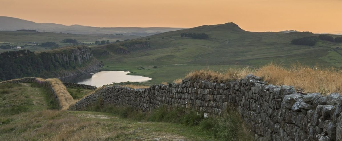 Hadrian's Wall curves around Craig Lough near Sycamore Gap (see below), situated north-west of Hexham