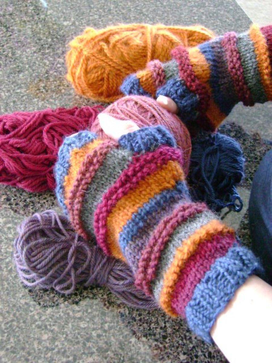 fingerless mitts or gloves