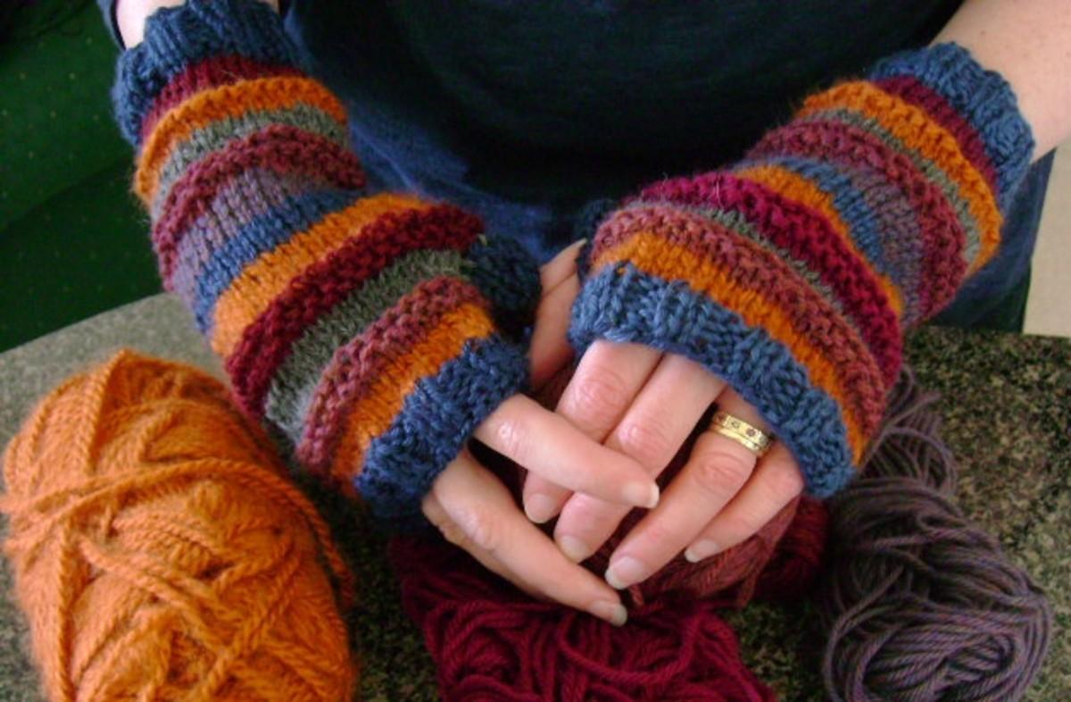Free Knitting Patterns For Half Finger Gloves : Free Knitting Pattern for Stash-o-motastic Fingerless Mitts or Gloves