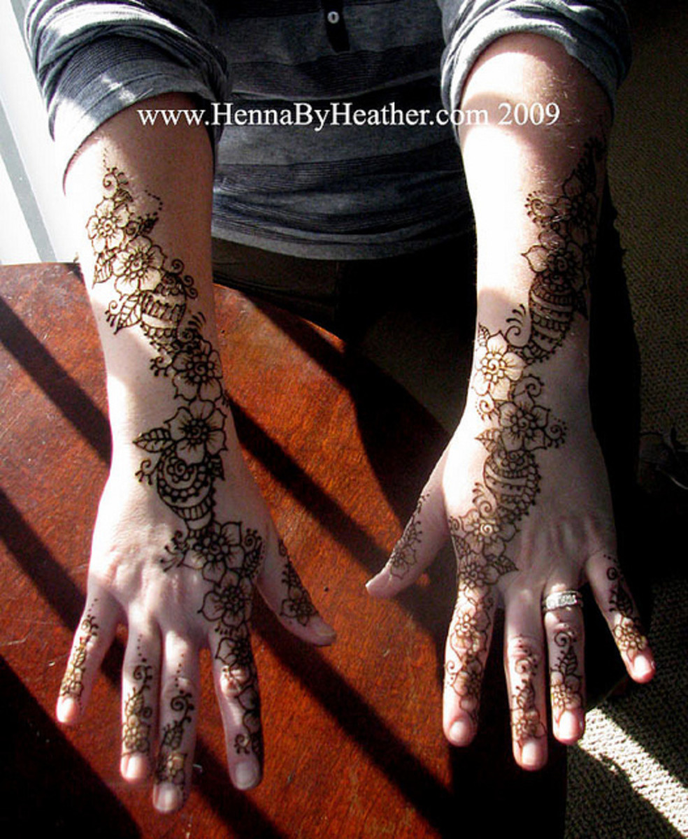 mehndi (henna) application on the occasion of karva chauth