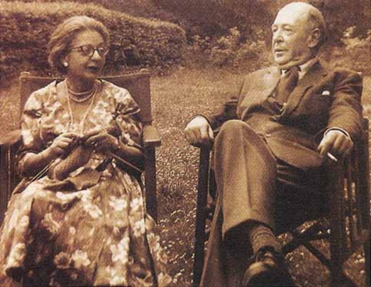 C. S. LEWIS WITH HIS WIFE JOY DAVIDMAN LEWIS