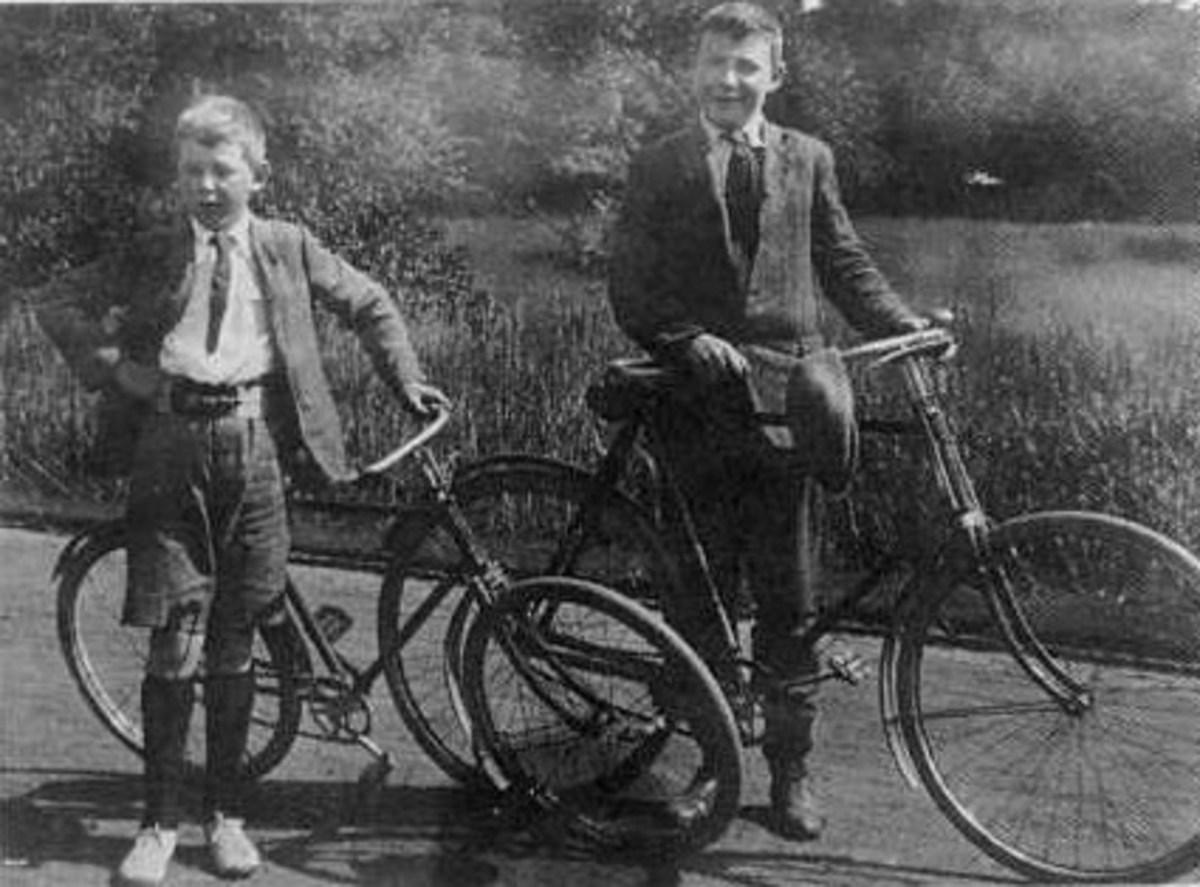 "C. S. ""Jack"" Lewis with his big brother Warnie"