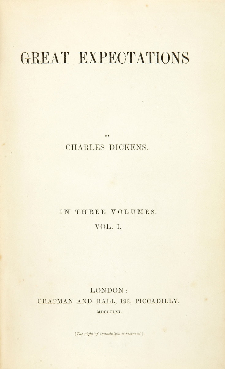 Title page from the first edition of Great Expectations.