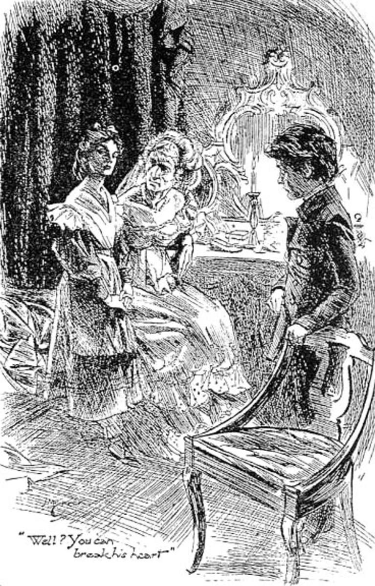 Miss Havisham, Pip, and Estella