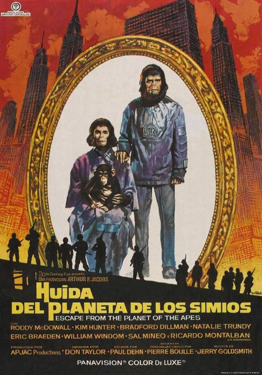 Escape from the Planet of the Apes (1971) Spanish poster