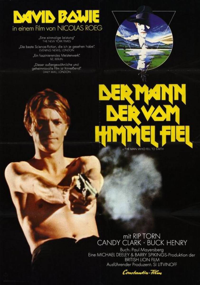 The Man Who Fell to Earth (1976) German poster
