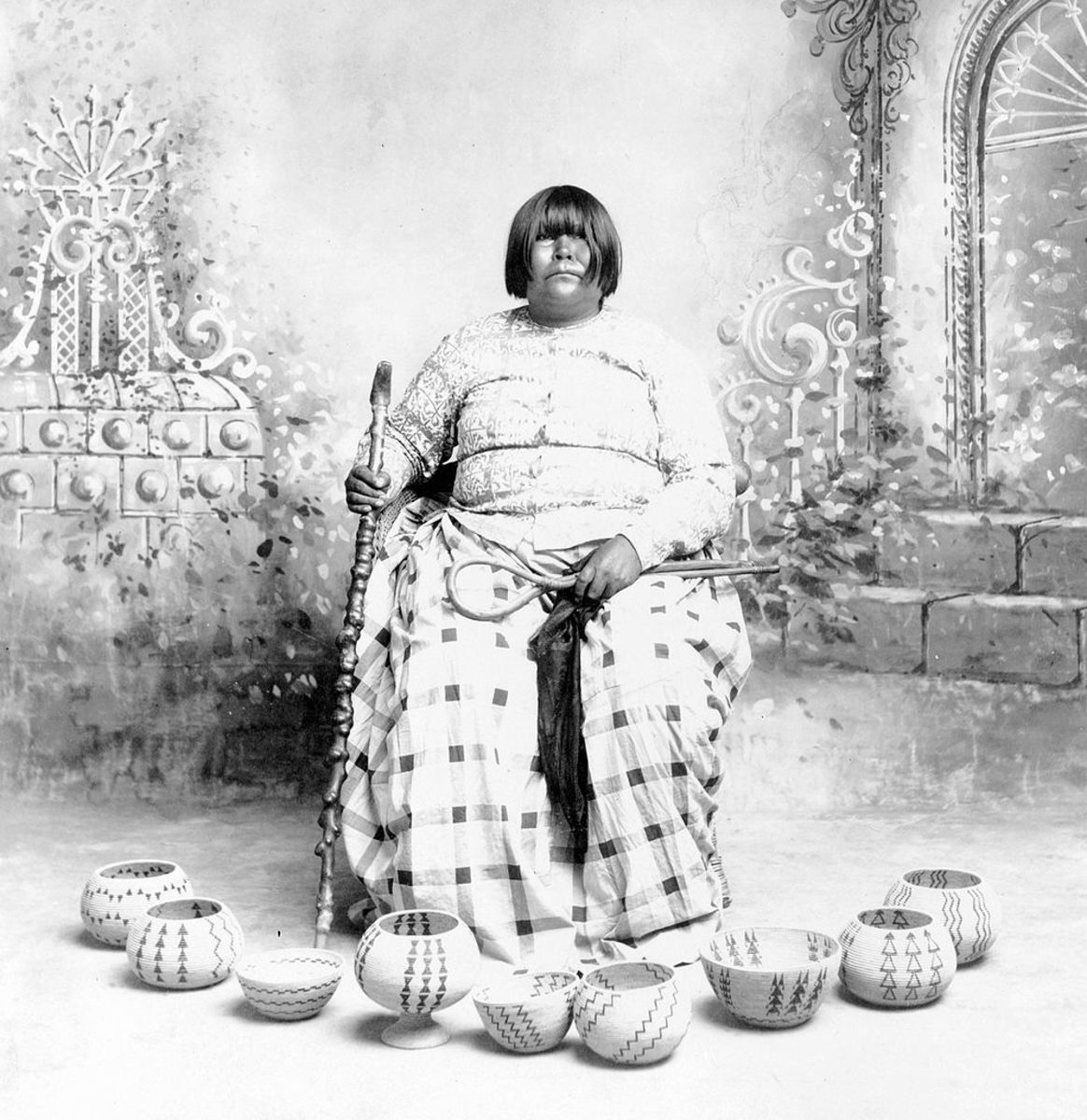 Dat So La Lee (1845 - 1925) of  Washoe Paiute tribe.