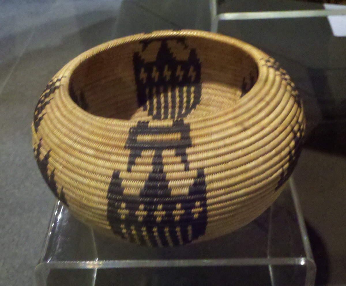 Basket made by Nellie Charlie in 1924, Yosemite Museum.