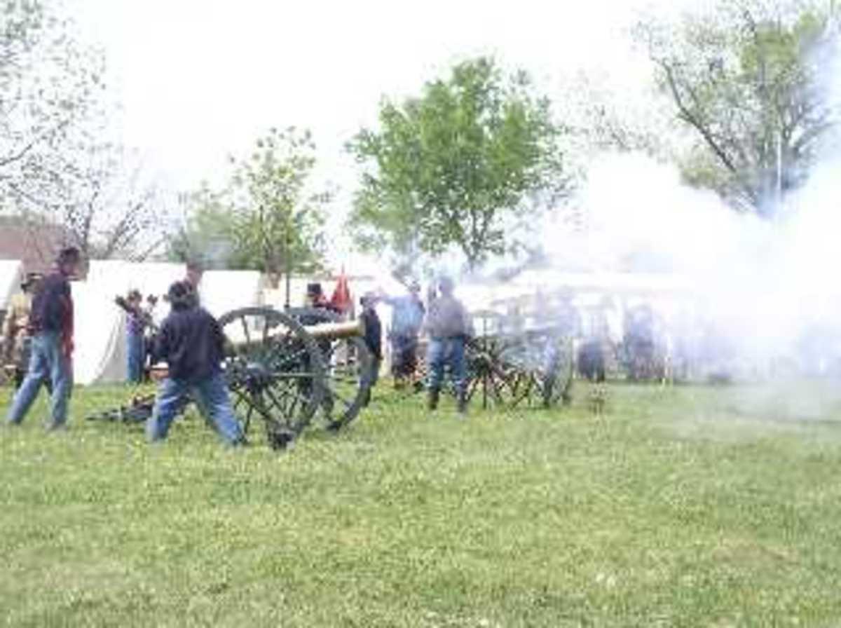 Artillery Firing during the battle at June 2006 Reenactment