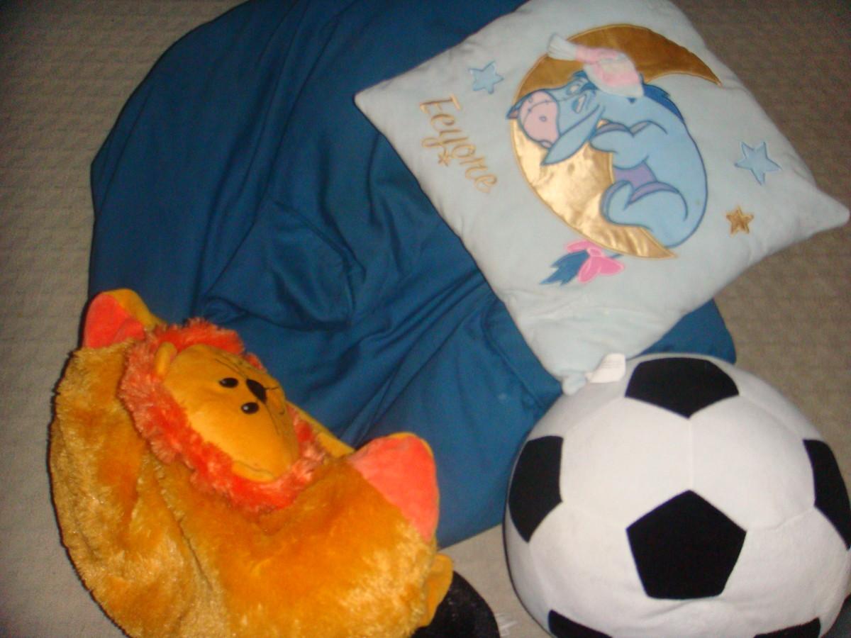 Cushions and bean bags