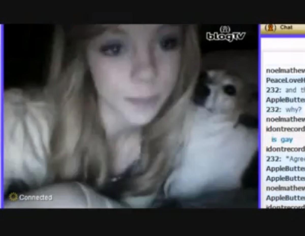 Girls striping on webcam