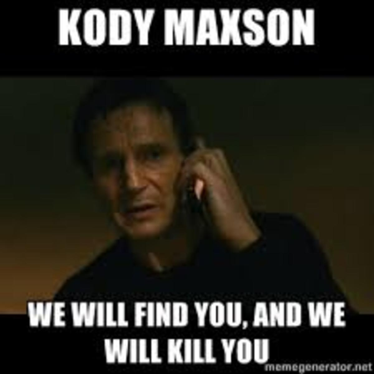 An example of the public jumping on the bandwagon throughout the following reporting of Anonymous's publication of Kody Maxson's information