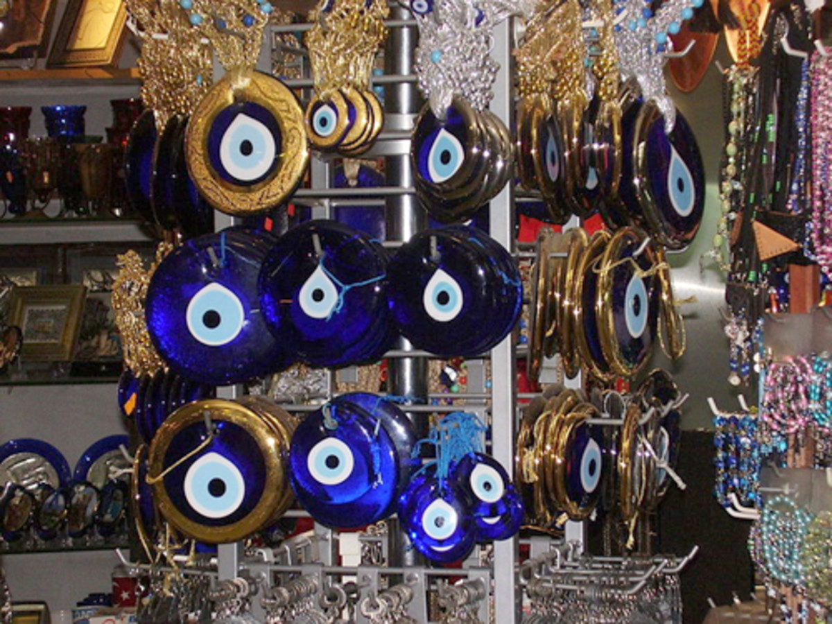 Charms or Nazars used by many people to ward off the evil eye