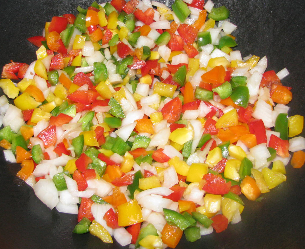 Diced Onions & Peppers