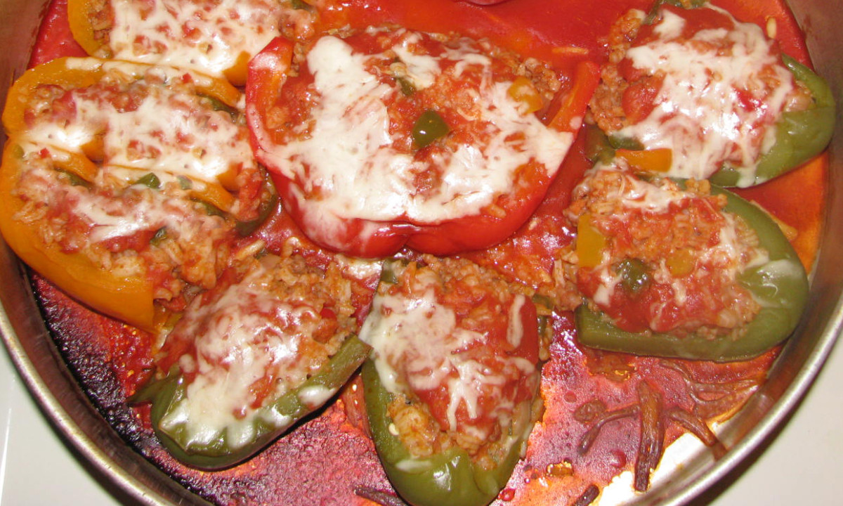 Portuguese Style Stuffed Pepper Appetizers