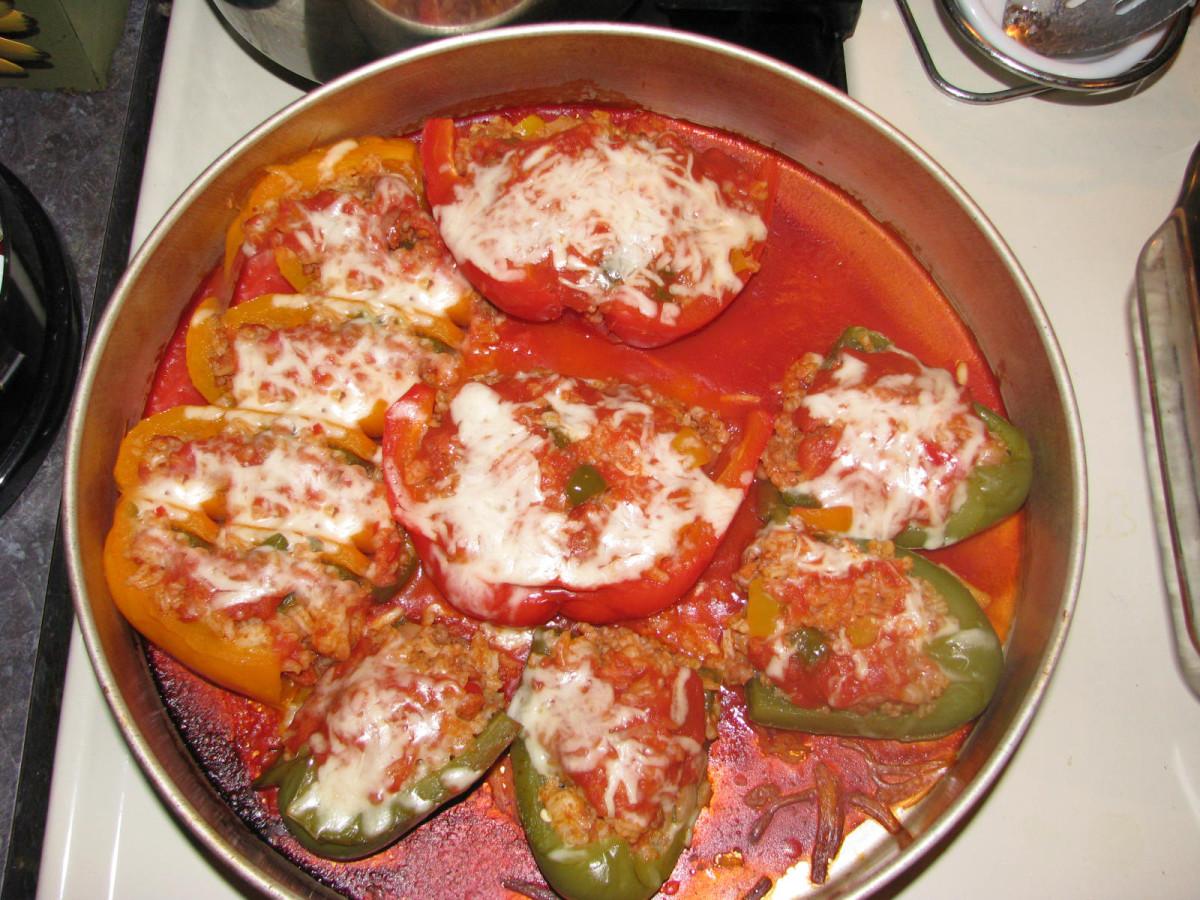 Portuguese Style Stuffed Pepper Appetizers