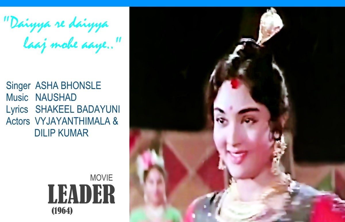 "Vyjayanthimala exhibits her rich dancing prowess in ""Daiyya re daiyya.."" based on Raag Darbari Kanada, in the movie'LEADER' (1969)."