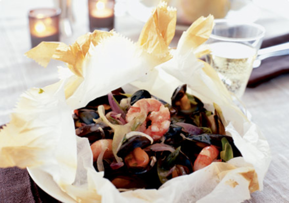Seafood 'en Papillote'.