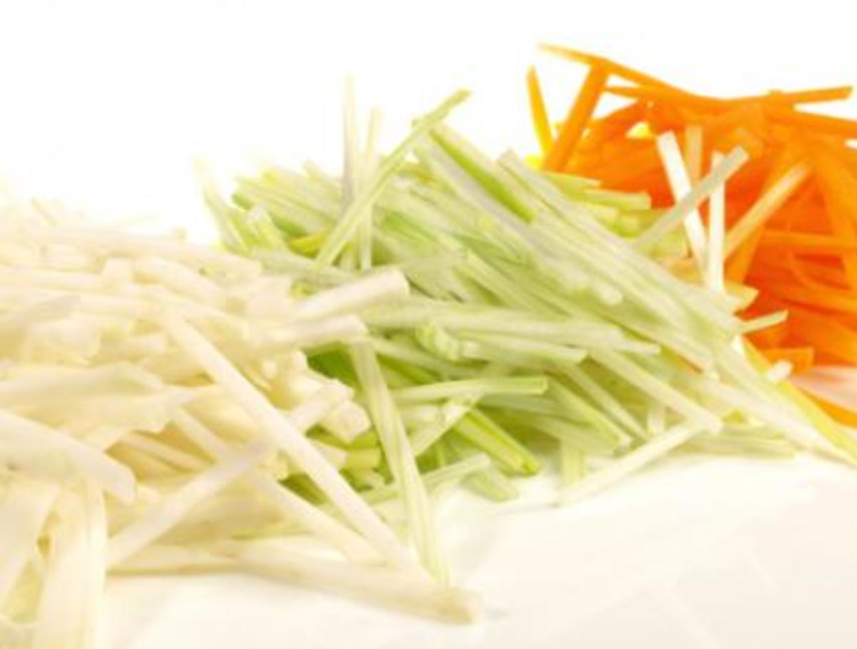 A julienne of vegetables