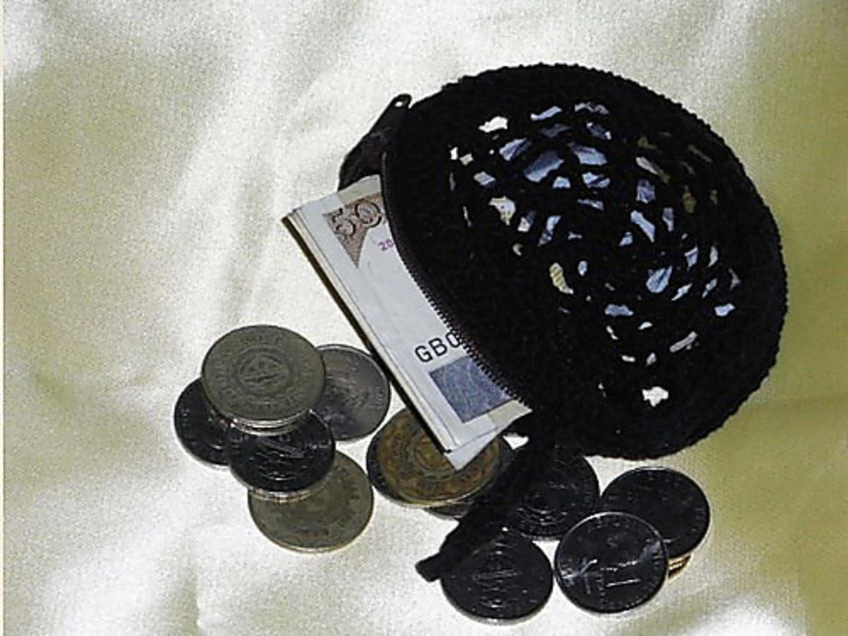 A crochet purse for him.