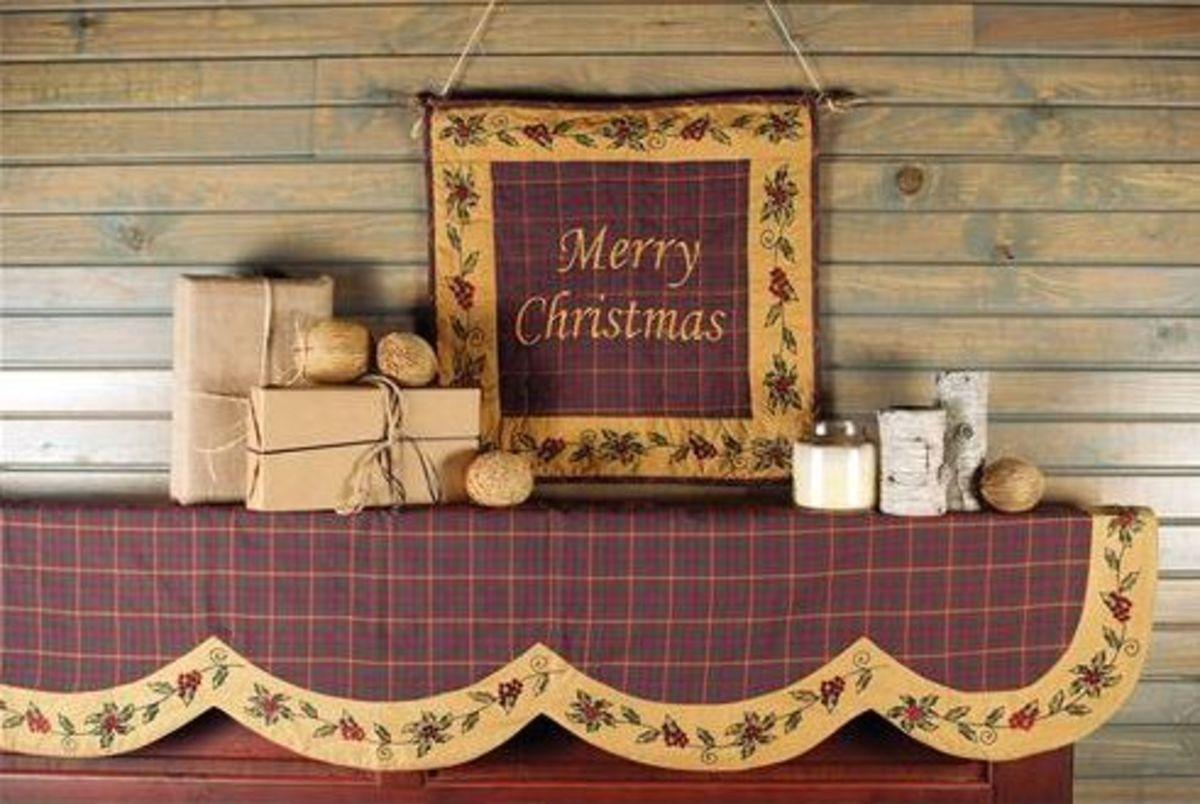 Christmas Scarf Mantel