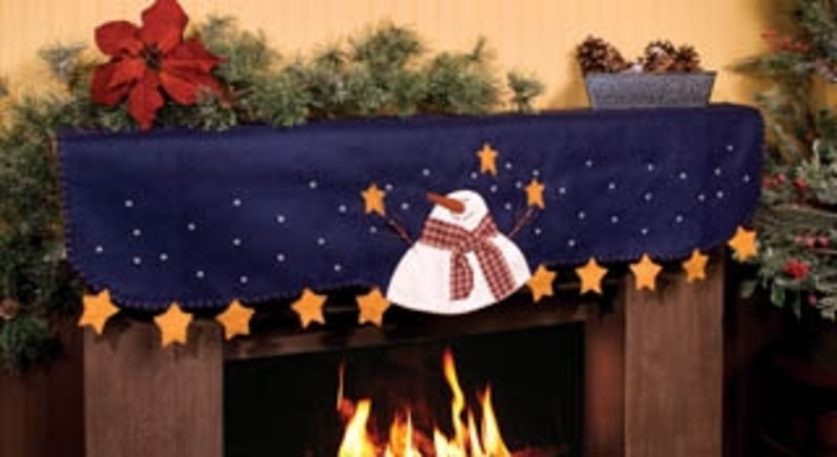 Christmas mantle scarves were originally designed to place over a fireplace on the mantle