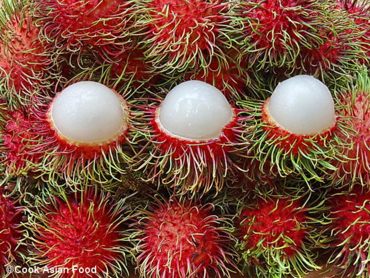Rambutan fruits. And they are delicious.