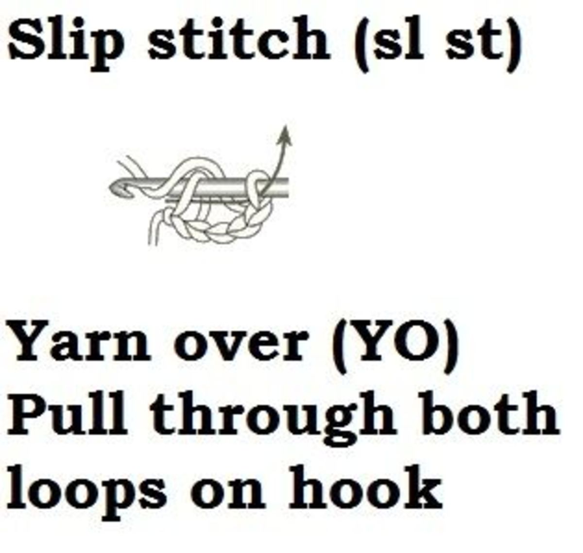 slip stitch-sl st- learn how to crochet