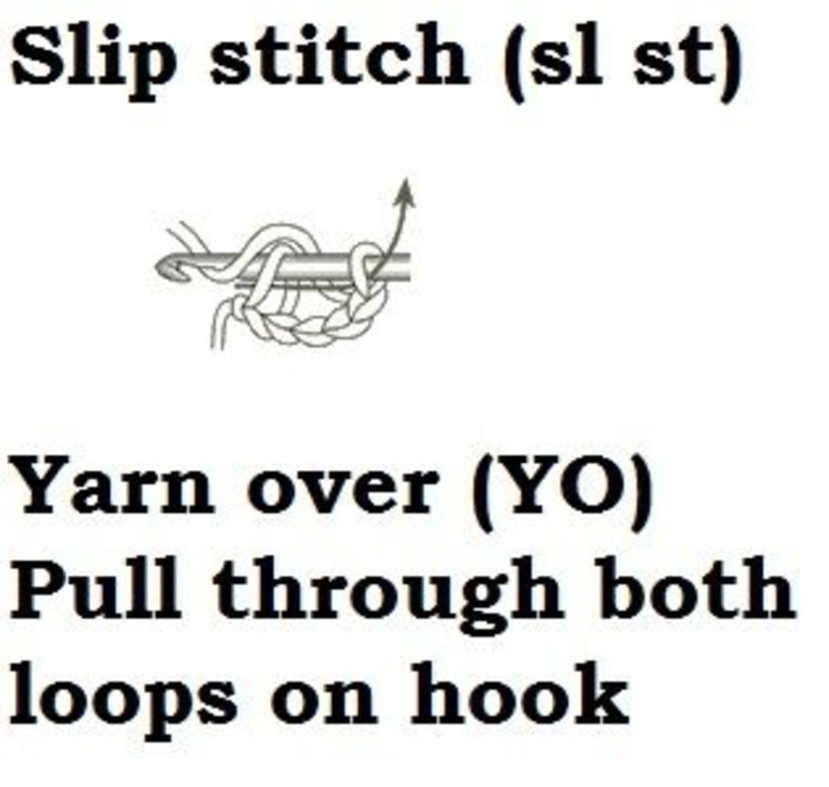 slip stitch-sl st- learn how to crochet
