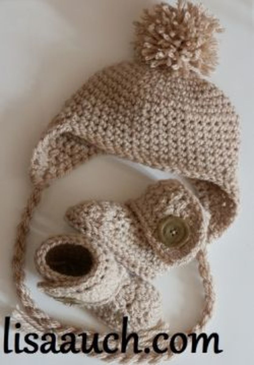 Easy to crochet Baby Hat and booties set