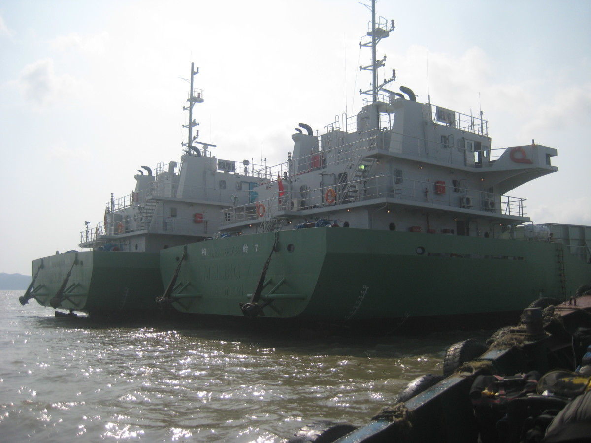 The pair of LCT vessels assigned for our teams