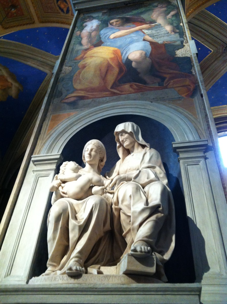 St Anne, Virgin Mary and Child Jesus statue by Sansovino