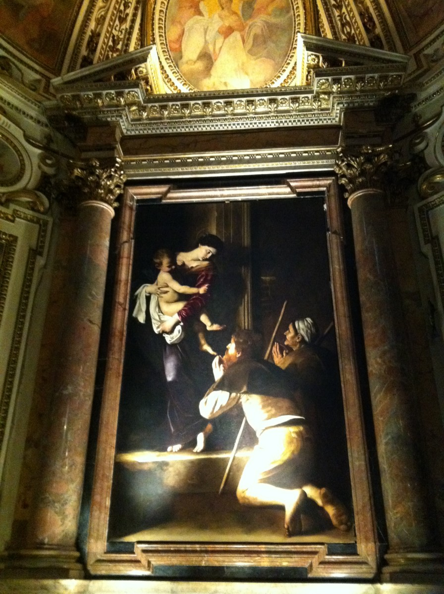 Caravaggio's The Virgin Mary of the Pilgrims