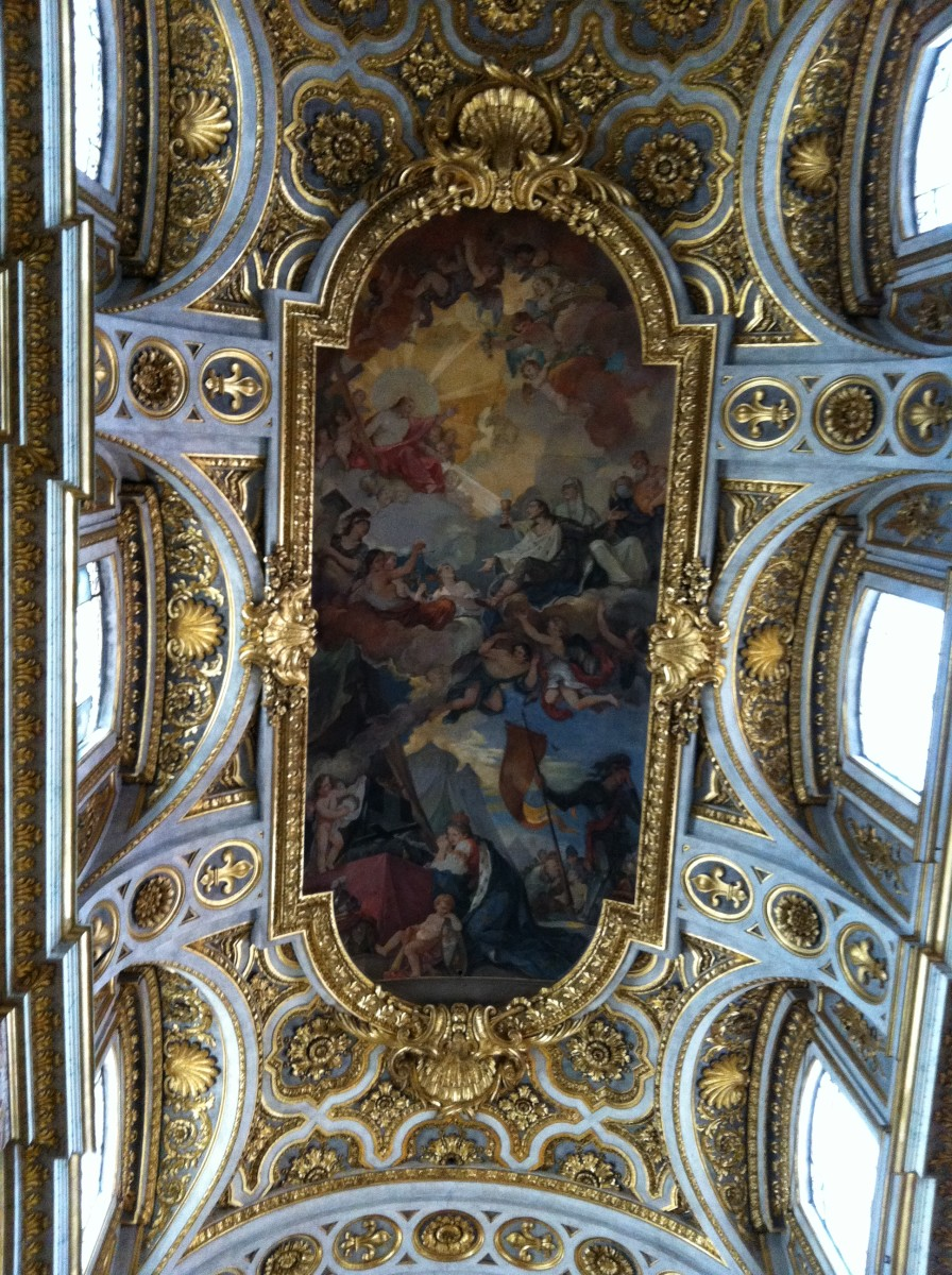 The Painted Ceiling  of St Luigi's life, death and ascension.