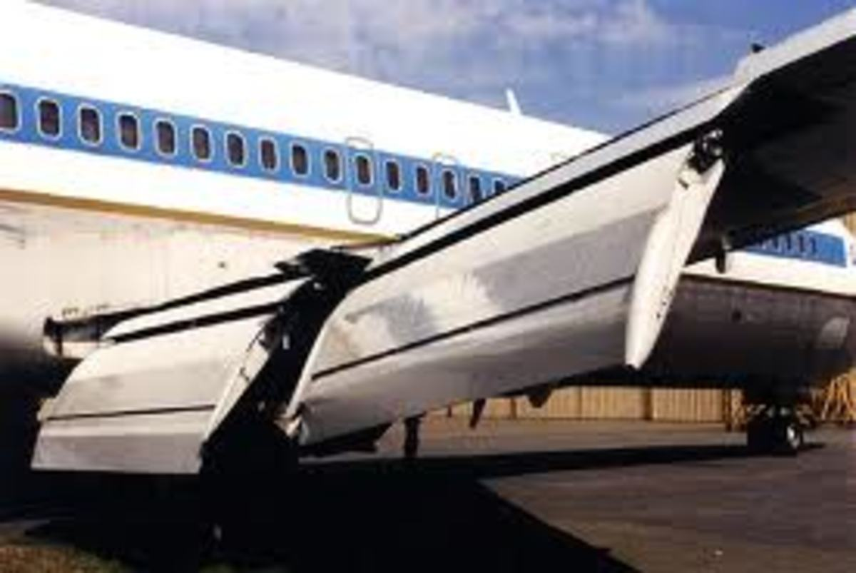 (Note:  A Boeing 727 with full wing flaps extended)
