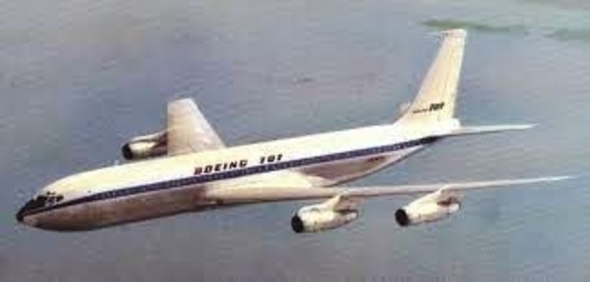 The Boeing 707 4-engine commercial jet