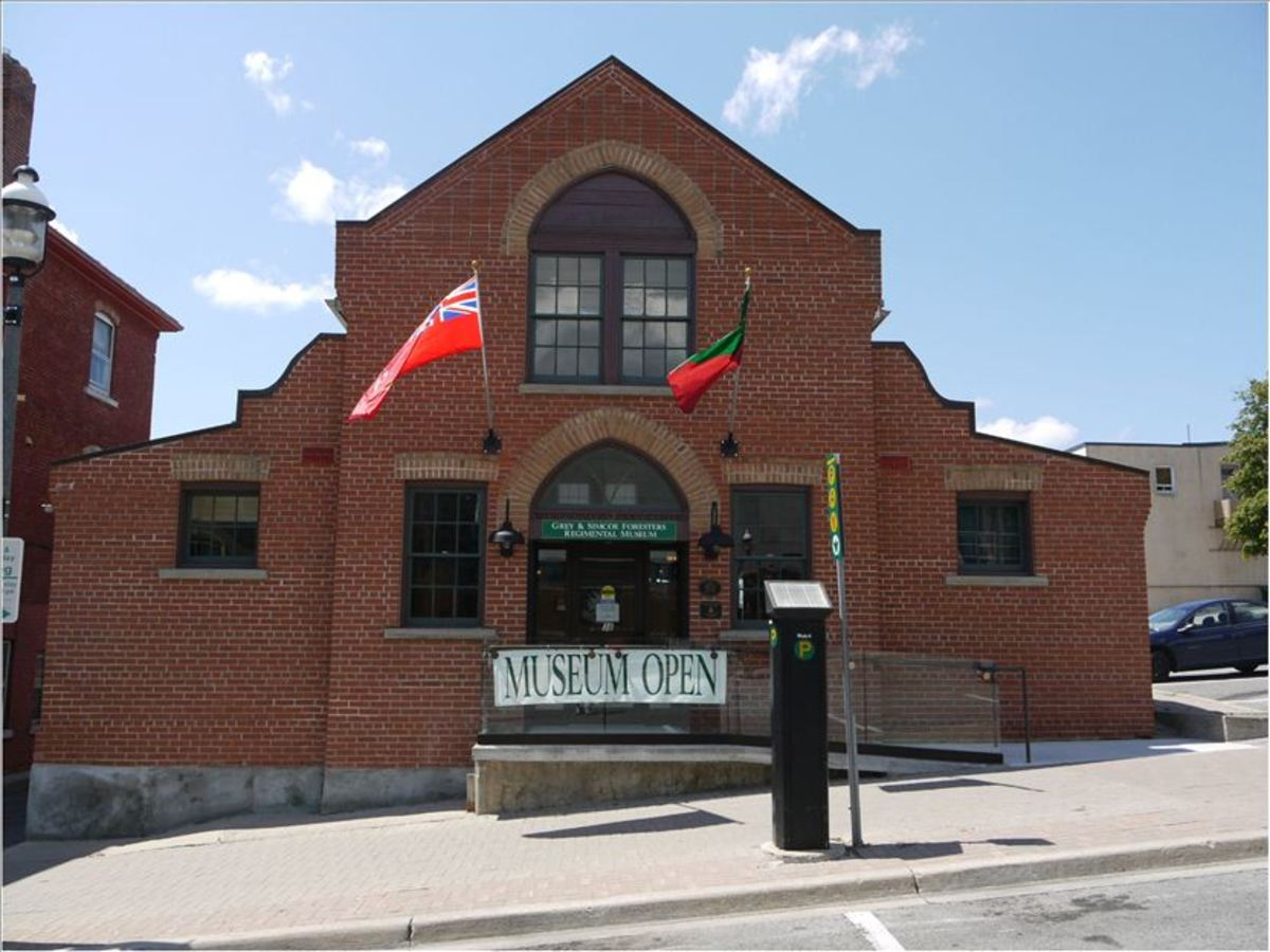 The old Armoury building in Barrie, Ontario.