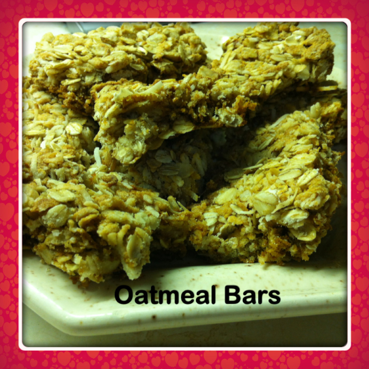 Oatmeal Bars; the perfect bar to along with your tea or coffee.