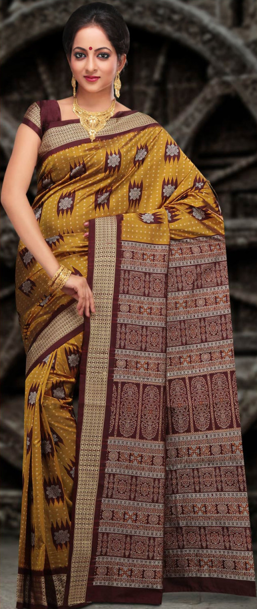Bomkai Pure Silk Saree