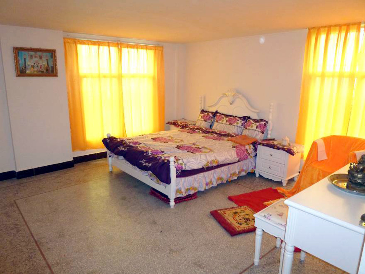 This is a picture of Baba's room that the devotees lovingly maintain.