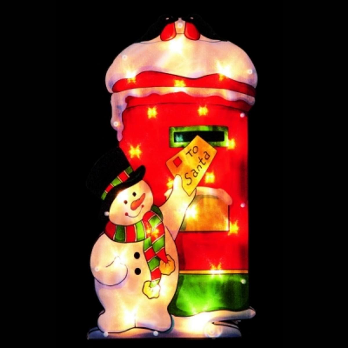 snowman christmas window silhouette