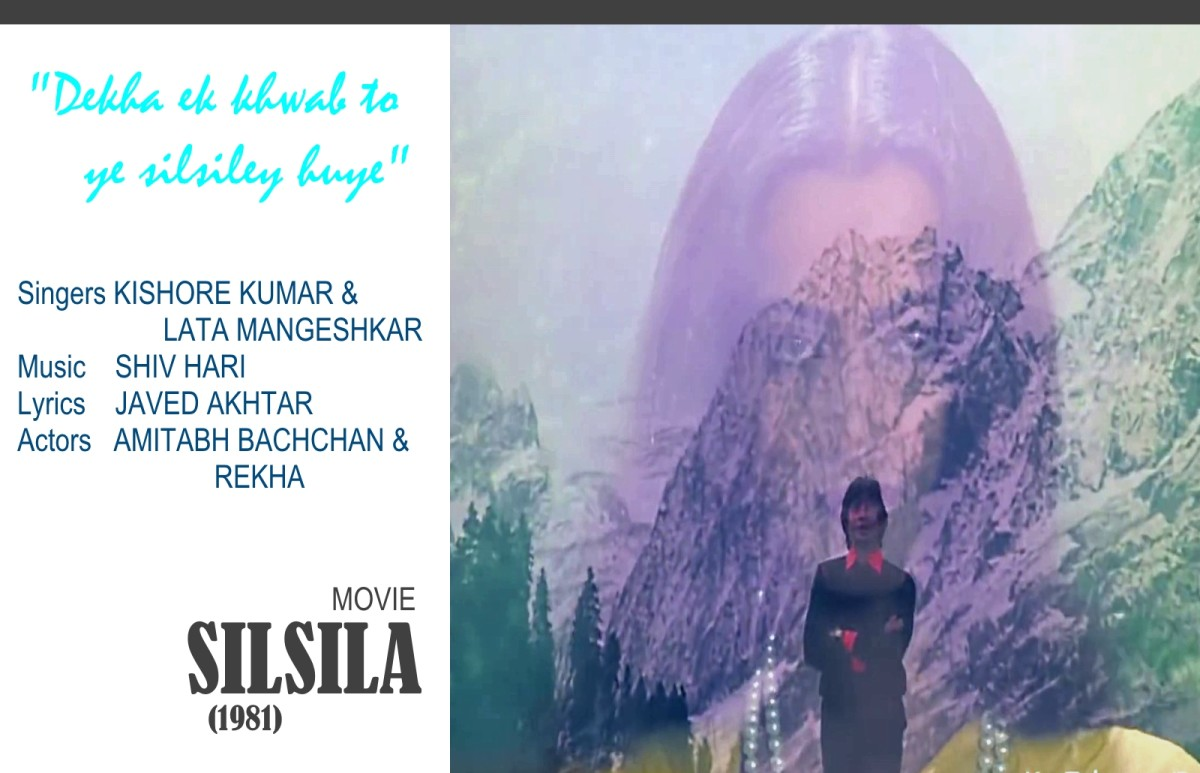 Amitabh Bachchan & Rekha in a great song from the eighties based on Raag Bhupali, from the movie 'Silsila' (1981), sung by Lata & Kishore