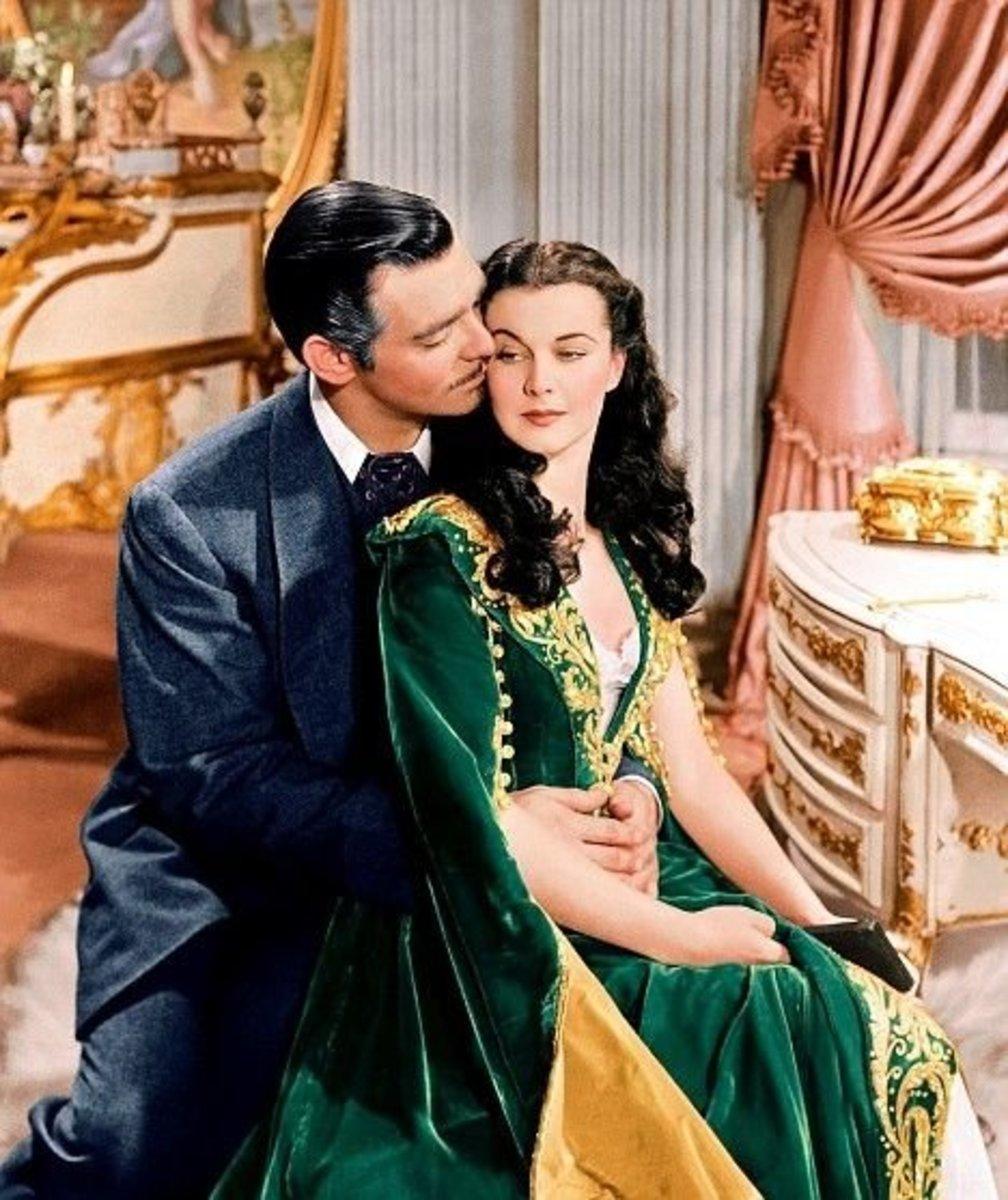 Vivien Leigh as Scarlett O'Hara & Clark Gable as Rhett Bulter from Gone with the Wind