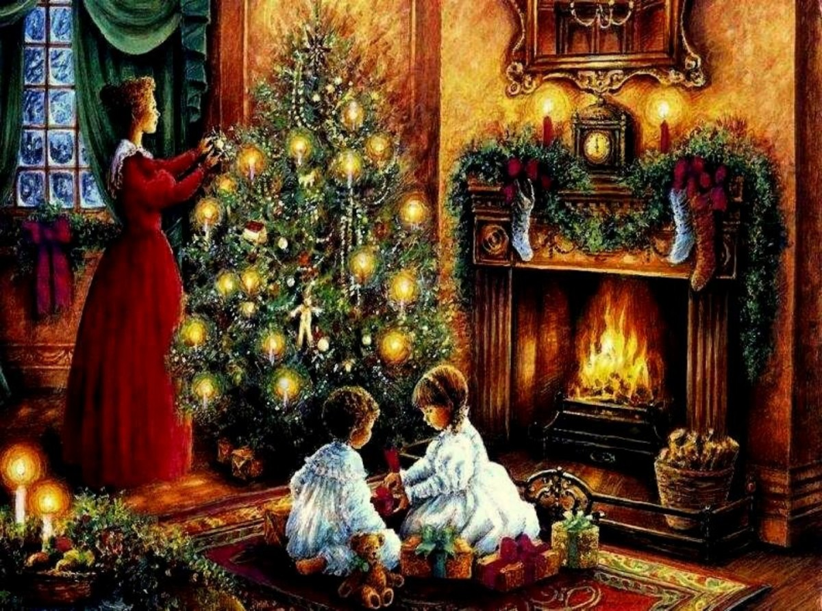 Christmas Fireplace Scene Images Pictures Becuo