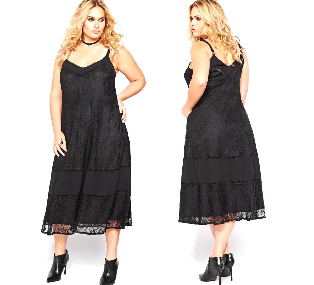 easy trendy lace slip dress: spaghetti straps, romantic lace, V-neck and back