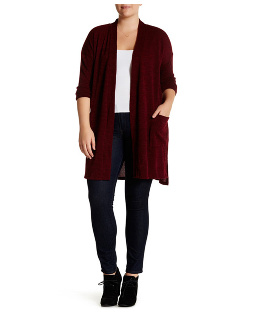 long sleeved cardigan with shawl collar, light textured polyester-spandex fabric