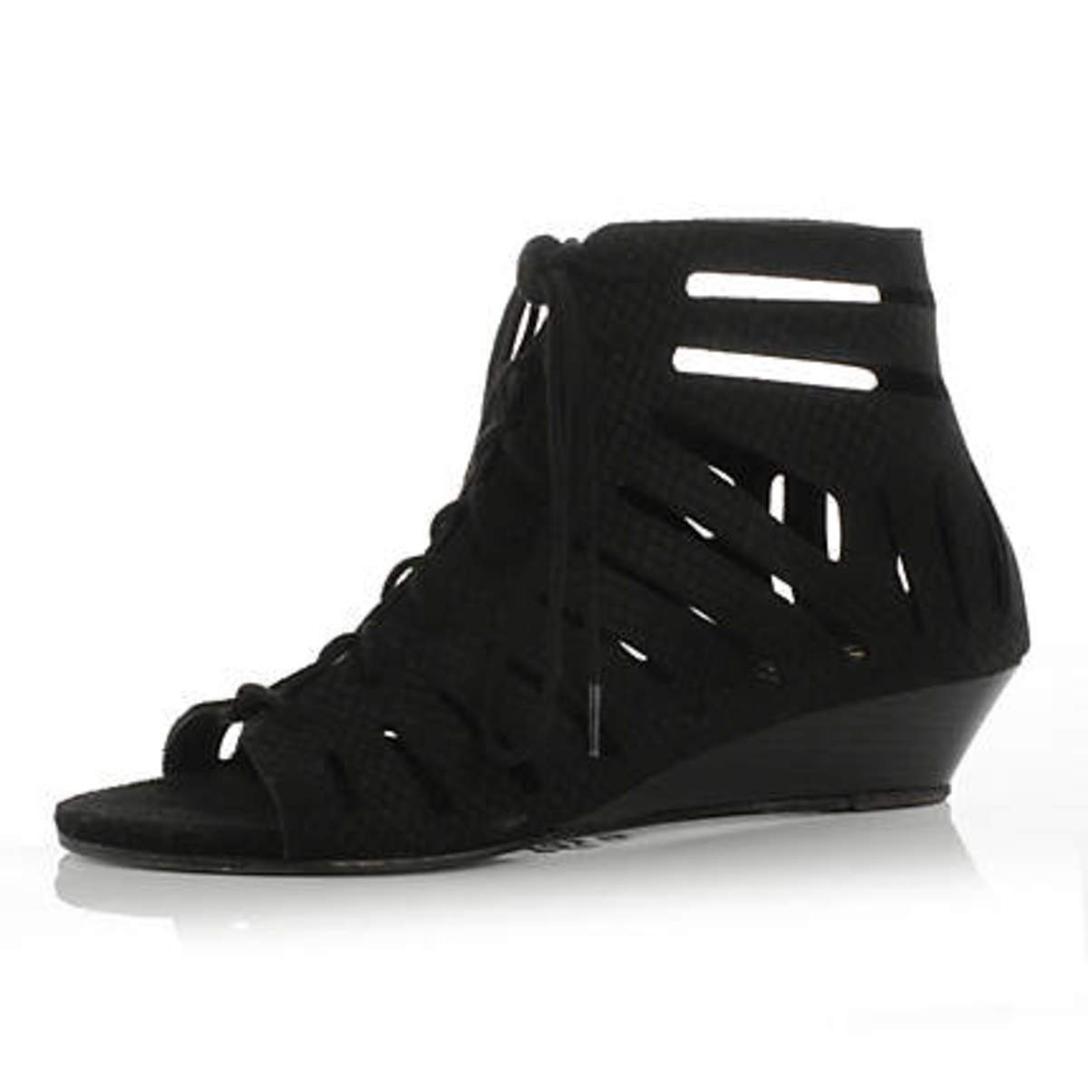 trendy cage wedge sandal