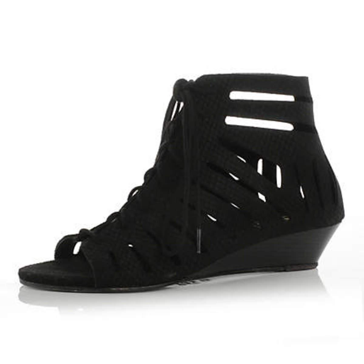 trendy cage wedge sandal