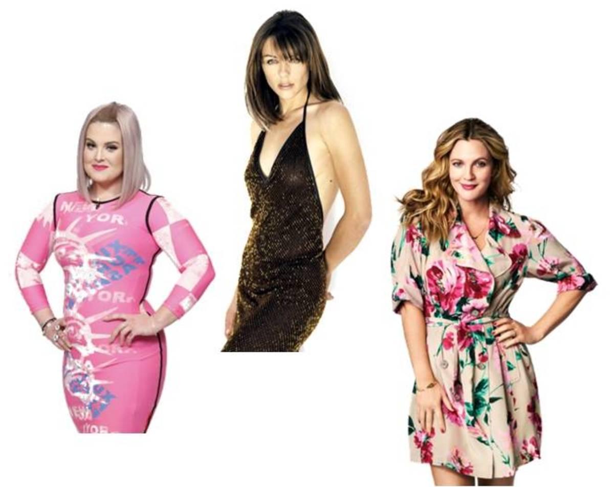 Kelly Osbourne, Elizabeth Hurley, Drew Barrymore