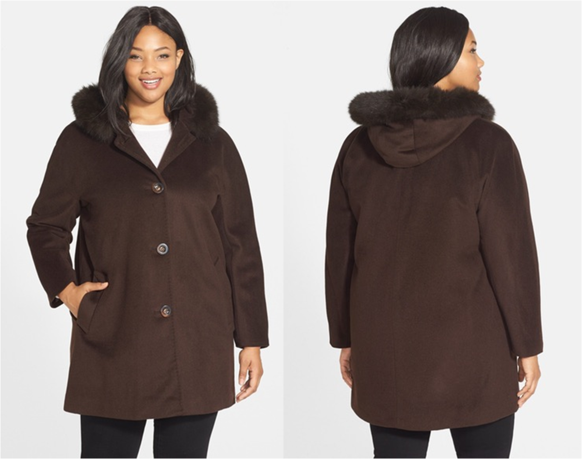 A-line wool blend coat, single-breasted style cut with simple kimono sleeves